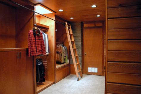 Rolling Closet Ladders by Rolling Library Ladder Traditional Closet By Custom