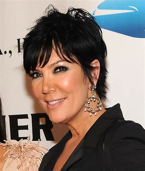 kris jenner haircuts front and back messy short black hairstyle hairstyles weekly