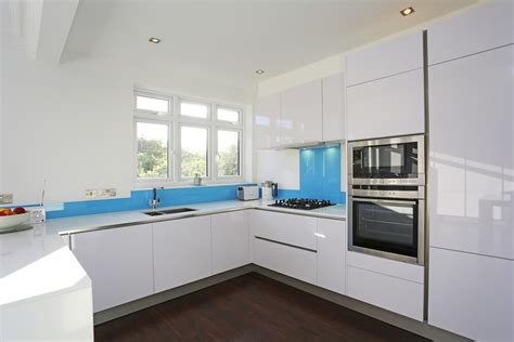 white high gloss kitchen cabinets high gloss kitchens from lwk kitchens