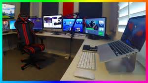 Gaming Office Setup Mrbossftw New 2016 Gaming Office Setup Ultimate Gaming Office Setup