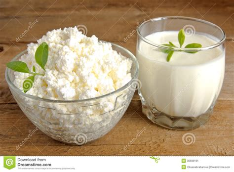 cottage cheese and yogurt stock image image 30698191