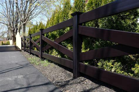 fence illusions black pvc vinyl crossbuck post  rail