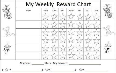 basic printable reward charts printable reward charts for kids and positive behavior