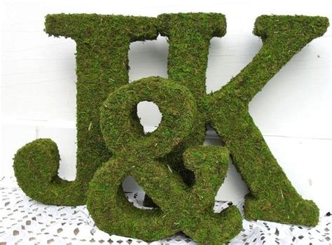 25 best ideas about moss covered letters on pinterest