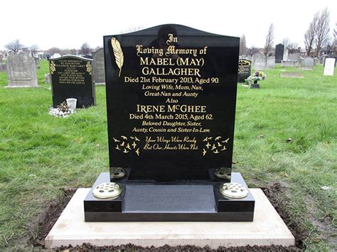 headstone layout exles bluebell memorials home page