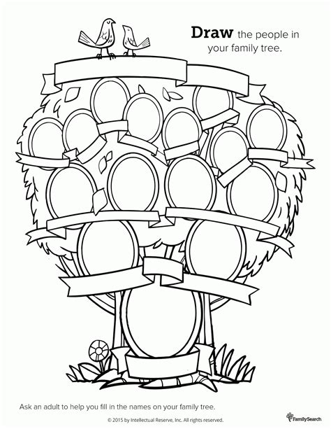 family tree coloring page az coloring pages