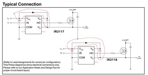 floating capacitor multiplier mosfet what is this error in pspice with ir2113 electrical engineering stack exchange