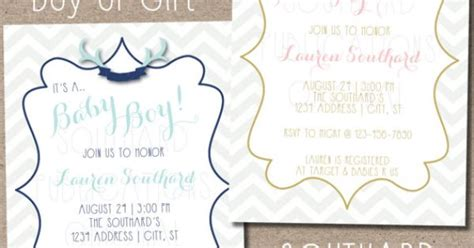 printable invitations office depot antlers baby shower invitation print at by