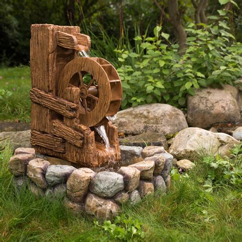 stilista fountain garden ornamental water wheel game
