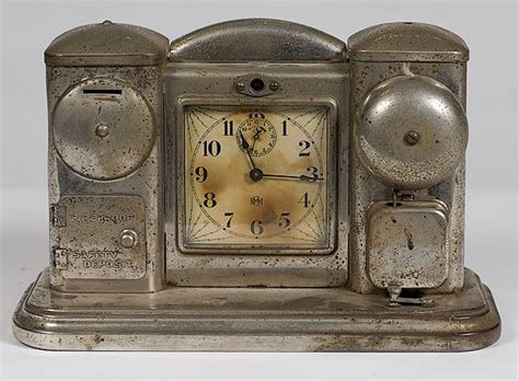 american ca 1910 a nickel plated alarm clock manufactured by darche mfg co of chicago