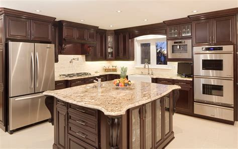 Dark Maple Cabinets Kitchen Contemporary With Backsplash | dark maple cabinets kitchen contemporary with backsplash