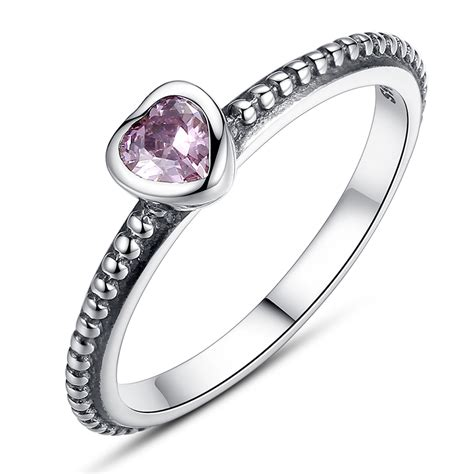 pandora rings purple zirconia original 925 sterling silver compatible