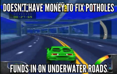 Arcade Meme - goverment in a nutshell via arcade racing games joke
