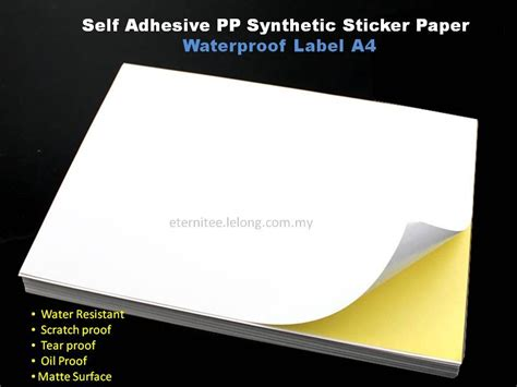 Promo Stiker A4 Cromo white based pp sticker water resist end 3 30 2018 4 15 pm