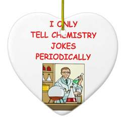 chemistry double sided heart ceramic christmas ornament
