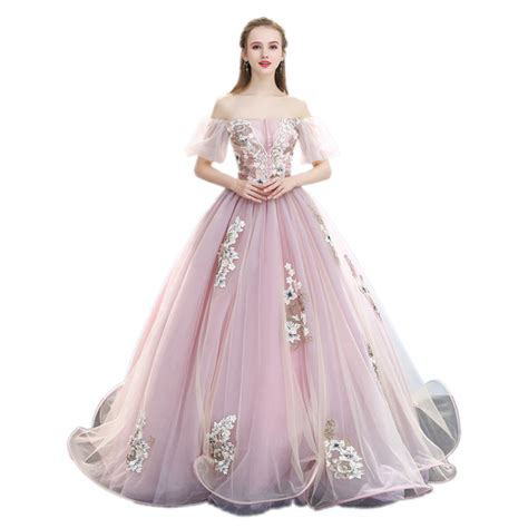 not all princesses dress 1416980180 light pink bubble sleeve luxury medieval dress ball gown princess medieval renaissance gown