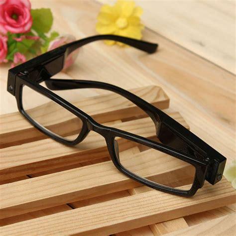 led lights for glasses unisex reading eye glasses eyeglasses spectacal with led