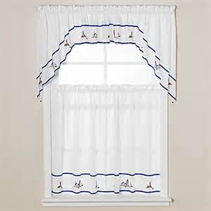 Lighthouse Kitchen Curtains Buy Lighthouse Window Curtain Swag In Blue From Bed Bath Beyond