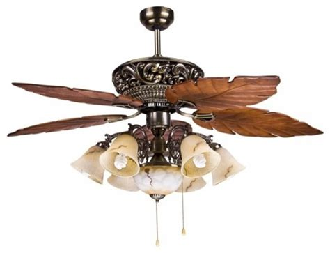 leaf ceiling fan with light large tropical ceiling fan light with 5 maple leaves blade