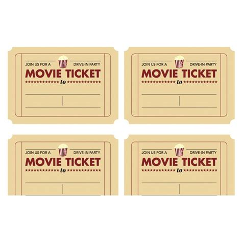 printable movie ticket invitation from today s parent