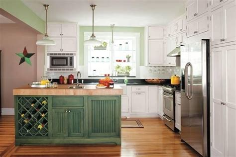 green cabinets cottage kitchen sherwin williams 1000 images about color of the month hemlock on
