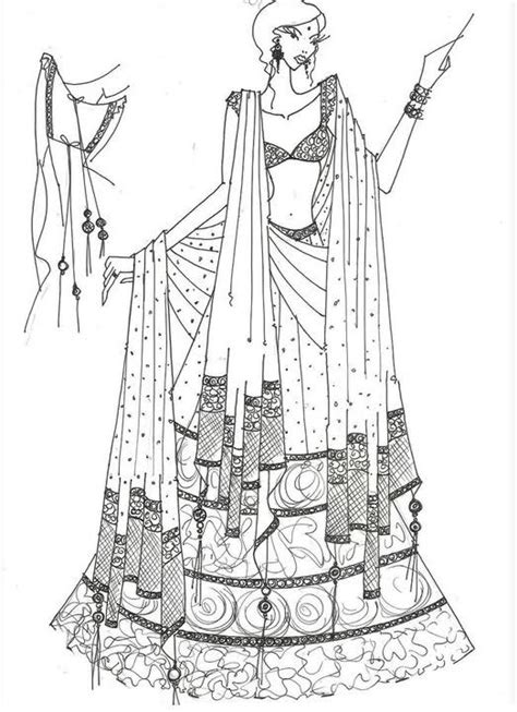 fashion illustration in saree 91 best images about indian wear sketches on