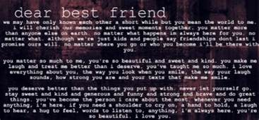 sweet letter to a best friend we it beautiful