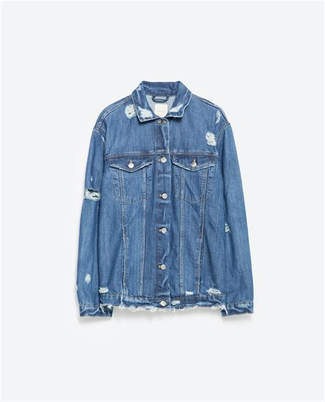 Zara Denim zara oversize denim jacket in blue lyst