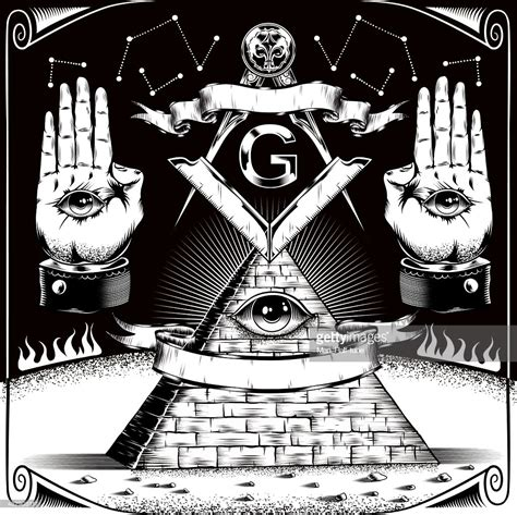 illuminati and freemason freemason symbols vector getty images