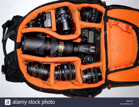 nikon equipment a bag perfectly organized filled with nikon