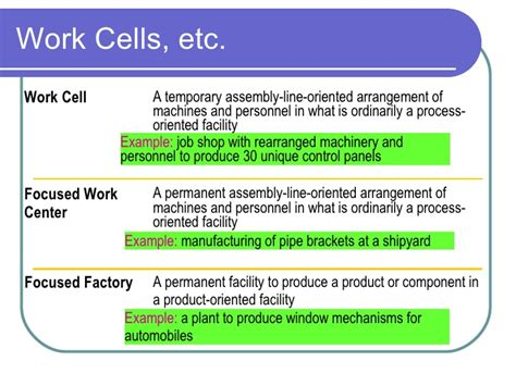 work cell layout strategy layout
