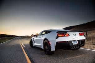 2015 chevrolet corvette stingray rear view sunset photo 16