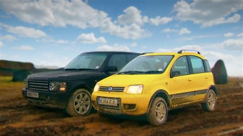 fiat panda review top gear fiat panda 4x4 vs range rover fifth gear
