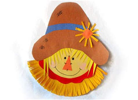 Scarecrow Paper Plate Craft - craft paper plate scarecrow