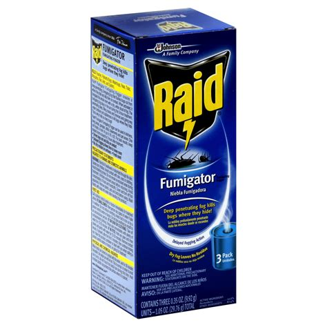 raid bed bug fogger raid fumigator fumigating fogger 3 0 35 oz 9 92 g