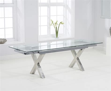 Glass Extending Dining Table Celeste 160cm Extending Glass Dining Table The Great Furniture Trading Company