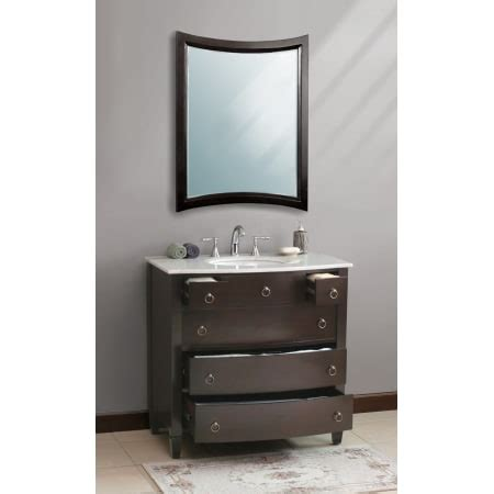 Bathroom Vanity Ls Virtu Usa Ls 1041 T Es Espresso Travertine Top Venice 36 3 10 Quot Bathroom Vanity Cabinet