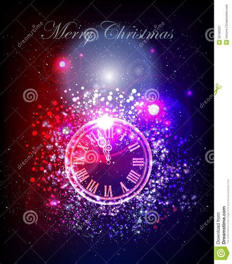 free dancing christmas cards neon christmas background with clock royalty free stock