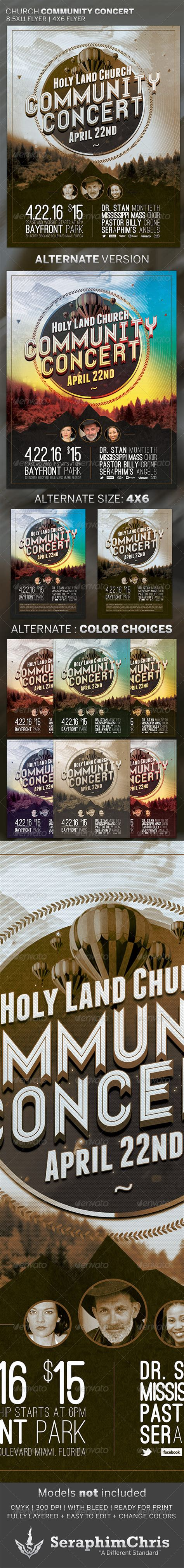 template flyer envato church community concert flyer template graphicriver
