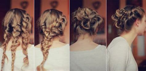 homecoming hairstyles tutorials quick and amazing triple braided prom updo hairstyle