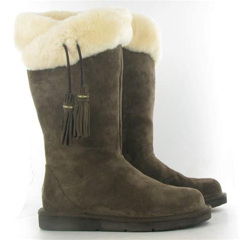 fur ugg boots ugg plumdale fur sheepskin boots in espresso brown