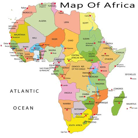 map of africa countries maps of the world to print and chameleon web