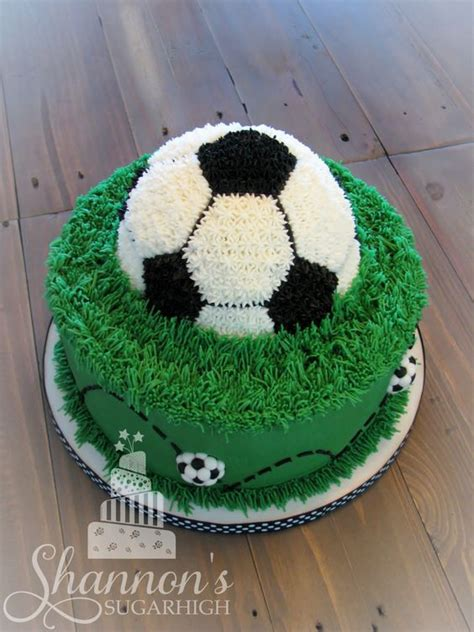 Soccer Birthday Cake soccer cake top back view with fondant