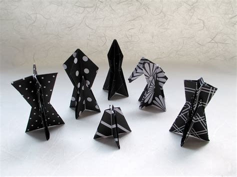 Origami Chess Pieces - origami chess set
