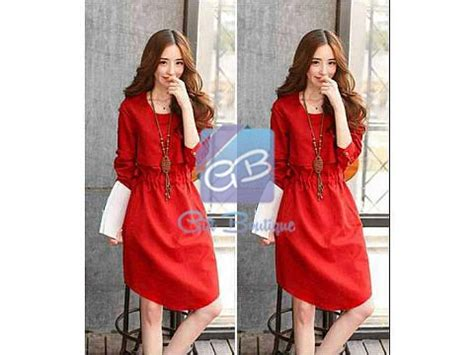 Supplier Baju Anggun Batwing Dress Hq 0857 5562 7585 im3 jual baju jual dress murah
