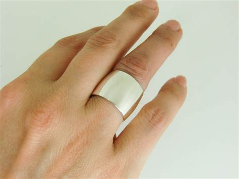 Eheringe 10mm Breit by Wide Silver Ring Sterling Silver Ring Wide Sterling