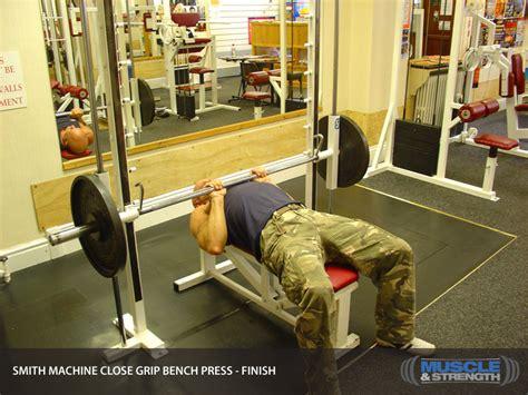 close grip smith machine bench press smith machine close grip bench press video exercise guide