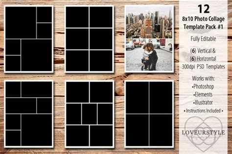 17 Best Ideas About Photo Collage Template On Pinterest Photo Heart Collage Photo Collage 8x10 Album Template