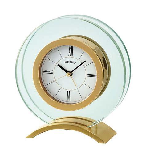 Seiko Desk Clock by Seiko Qhe057g Table Clock Glass New Ebay