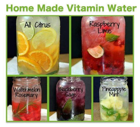 How To Make A Detox Vitamin Water by Less Soda More Water Make Your Own Flavored Waters